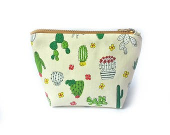 Cactus Coin Purse, Cactus Small Zip Bag, Cute Coin Purse, Cactus Change Purse Wallet, Small Gifts, Cute Gardening Gifts For Her