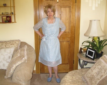 Two Dresses in One, four looks, Spring and Summer, Cotton, Polyester, machine wash and dry, size Medium