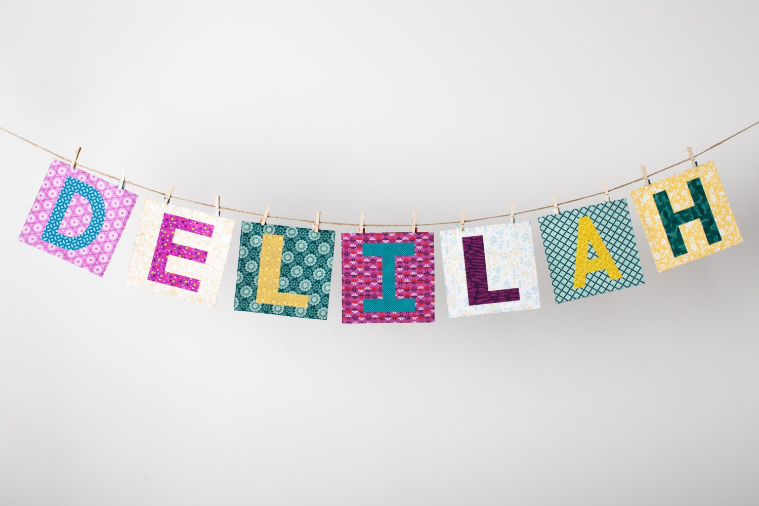 Fabric Word or Name Banner in the DELILAH Collection