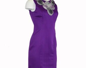 Up-cycled Purple Power Dress