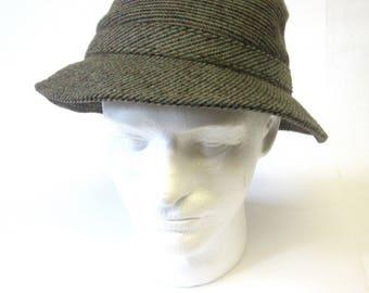 Fedora Hat Tweed Mens Slouch Brim Bucket