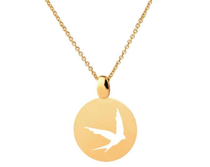 Imprint EM6CO swallow necklace