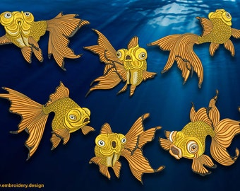 Goldfish pack of embridery designs - downloadable
