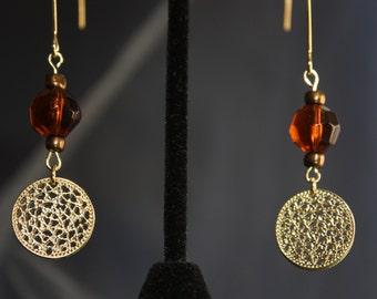 up-cycled bead & charm v-hook earrings