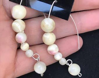 Sterling Silver & Mother of Pearl Earrings