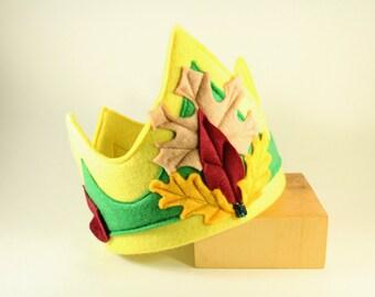 Leaf Crown - leaves Crown - Kid's crown - Party crown-  Waldorf crown - Birthday Crown -