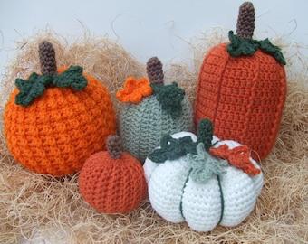 CROCHET PATTERN - Crochet Pumpkins - CV131 Picking A Pumpkin - PDF Download