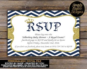 Formal invitation etsy royal prince formal invitation rsvp cards stopboris Choice Image