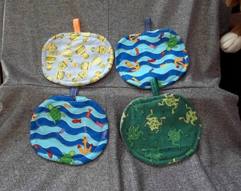 Table Protector Pot Pillows Hot Pads, Kids Fishing Prints