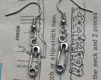 Safety Pin Earrings