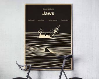 Jaws, Jaws Movie, Jaws Poster, Jaws Print, Jaws Movie Poster, Shark,minimalist poster