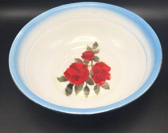 Diamond enamelware bowl