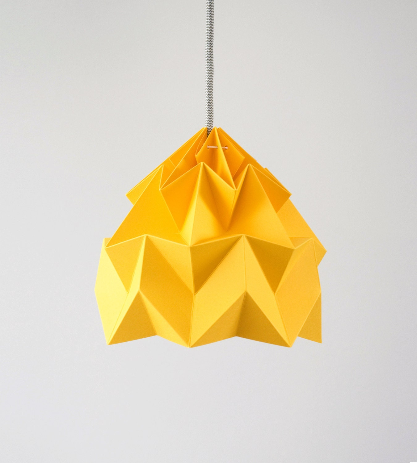 Paper pendant lamp shade moth gold yellow mozeypictures Images