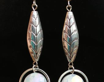 Silver Leaf with Moonstone