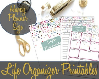 Happy Planner Inserts, Life Organizer Inserts, Life Planner, Household Binder, Household Planner, Mambi Inserts, Happy Planner Printables