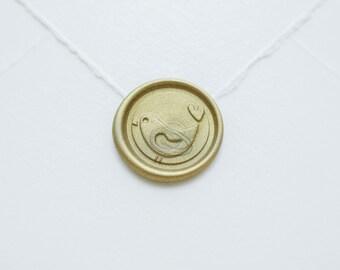 Dove Wax Seal, wax seal stamp, love seal, wedding invitation, Valentine, anniversary card, envelope seal, heart seal, wax seal jewelry, bird