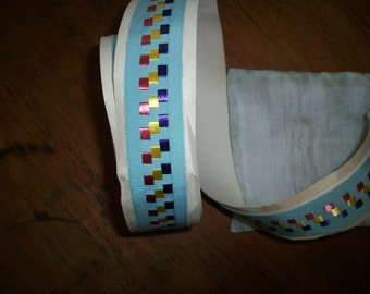 vintage petersham ribbon trim with deco period look