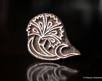 Soap Stamp, Pottery Stamp, Textile Stamp, Indian Wood Stamp, Tjaps- Small Stylized Flower