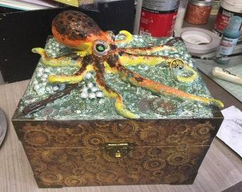 Steampunk octopus box