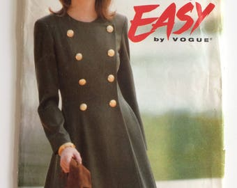 Vogue sewing pattern 8505 - Ultra Easy - Misses' double breasted dress - size 12-14-16