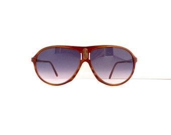 70s Aviator Sunglasses Frames Unisex Vintage 1970's Tortoiseshell with Gold Frames Made in Italy #M119