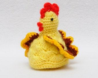 Easter gift Сhicken gift Toy Crochet yellow Toy animals Crochet amigurumi Сhicken Toy for Kids