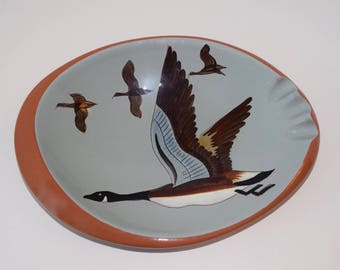 Wonderful Stangl Pottery Sportsman Series Oval Canadian Goose Ashtray