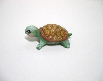 Turtle, ceramic turtle, miniature ceramic turtle