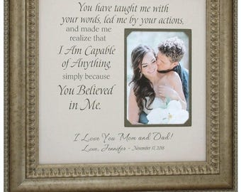 Wedding Gifts For Parents, Father of The Bride Gift, Mother of The Bride Gift, 16x16
