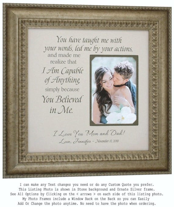 Wedding Gifts For Parents Father of The Bride Gift Mother of