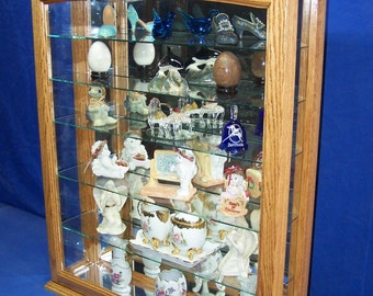 Oak Wall Hanging or Tabletop Curio Cabinet