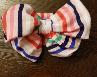Candy stripes messy bow