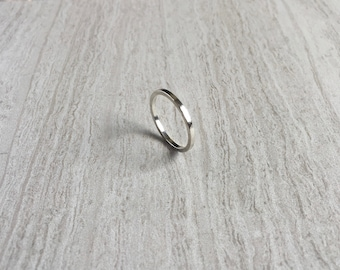 Sterling Silver Band, Simple Handmade Silver Ring, Minimalist Geometric Ring, Modern Stackable Ring