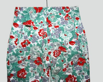 Vintage high waist flower pants