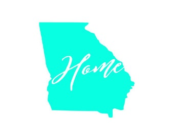 Georgia home decal