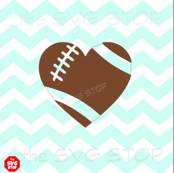 Football Heart Design Svg And Studio Files For Cricut
