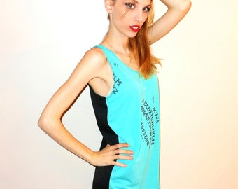 On Sale / Last One: Multi-Color NAUGHTY OUIJA BOARD Print Dress // Size Small