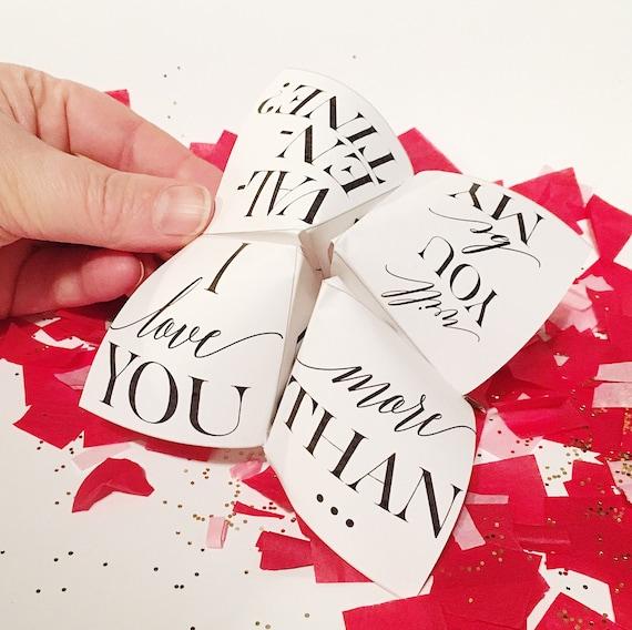 DIY Customizable Printable Valentine Cootie Catcher/Fortune
