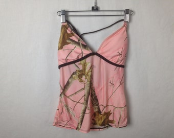Pink forest camo top size M/L