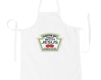Catch Up With Jesus Funny Tomatoe Apron aa116b