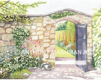 To The Garden. Limited edition giclée print, professionally printed in the UK using inks and paper of archival quality.