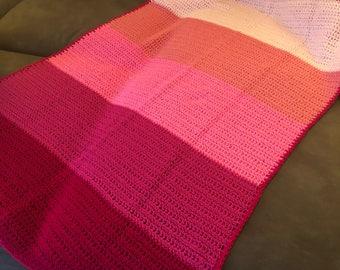 Baby blanket Pink, its a girl, baby girl, baby shower gift, baby shower girl, pink nursery, crib blanket, stroller blanket, girls bedding