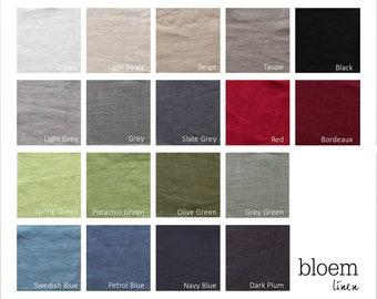 Set of 18 linen color swatches, Linen color samples Bloem Linen