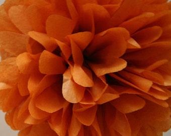Burnt orange - one pom