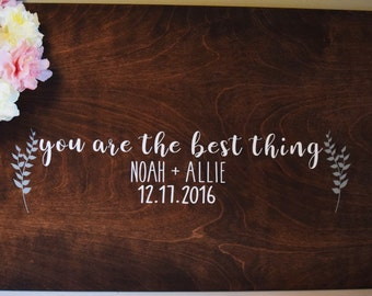"""A """"You are the Best Thing"""" Guestbook, Rustic Guest book, Wedding Guestbook, Wedding Guest Book Guest Book Alternative, Guestbook Alternative"""