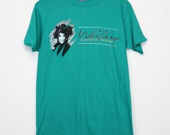 Whitney Houston Shirt Vintage tshirt 1987 Moment Of Truth Tour Concert tee 1980s Prom Queen Of Soul Music R&B Love Joy Gospel Pop