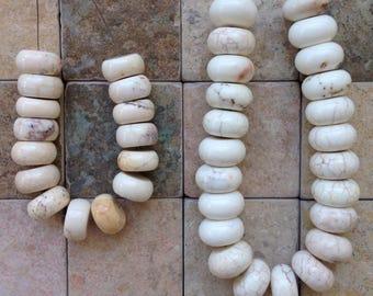 Rondelle Magnesite Beads Various Sizes