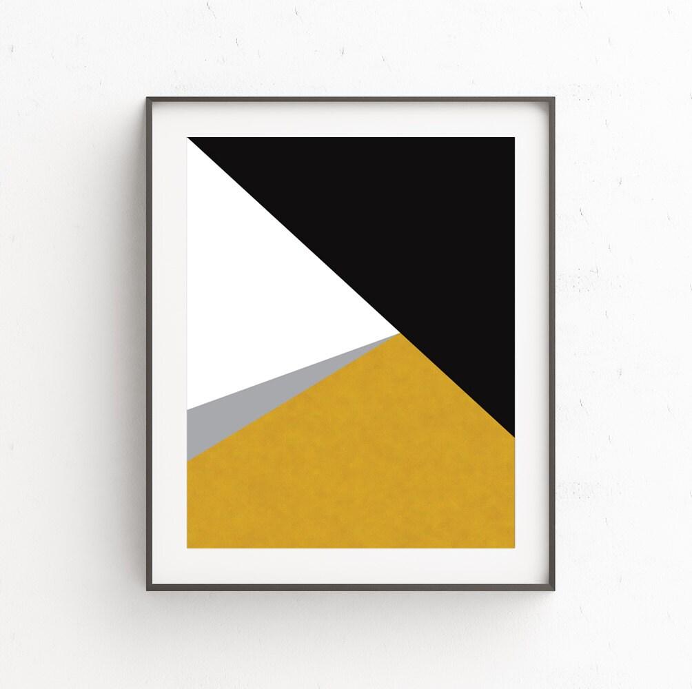 Geometric Art Gold Print Minimal Modern Wall Prints