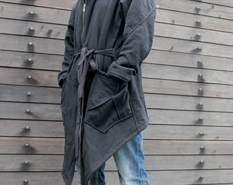 Altair Jacket Hood ~ black hoodie assassin dystopian post apocalyptic