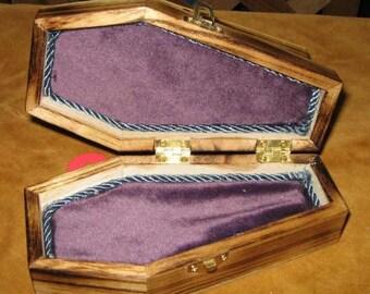 Gothic Coffin Jewerly Box Purple & Blue